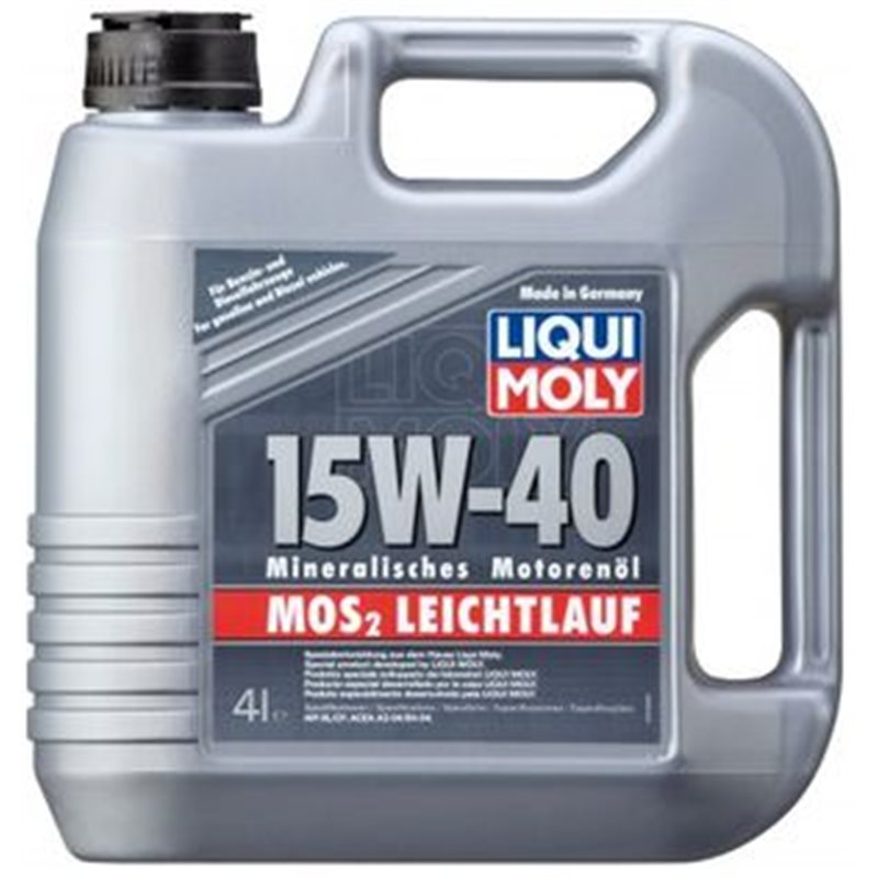 liqui moly mos2 leichtlauf super 15w40 4l 2631. Black Bedroom Furniture Sets. Home Design Ideas